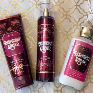 New Bath & Body Works Raspberry Sugar